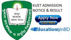 KUET Admission Test Notice Result For Session 2018-2019 www.kuet.ac.bd